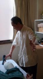 膝の痛みの外気治療